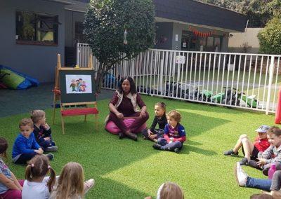 Teaching outside 4