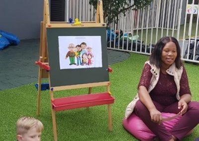 Teaching outside 2