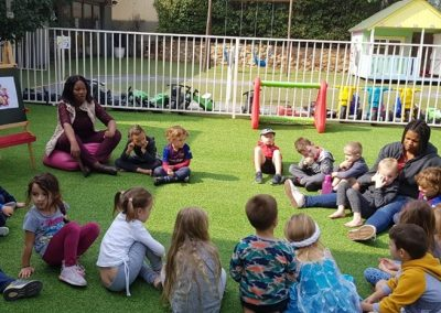 Teaching outside 1